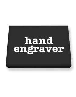 Hand Engraver Canvas square