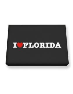 I Love Florida Canvas square