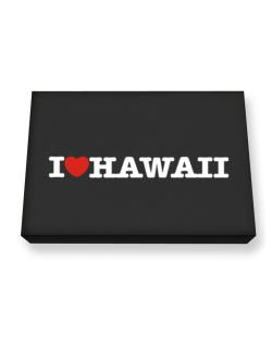I Love Hawaii Canvas square