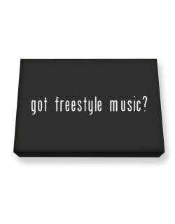 Got Freestyle Music? Canvas square