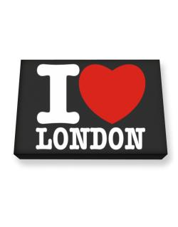 I Love London Canvas square