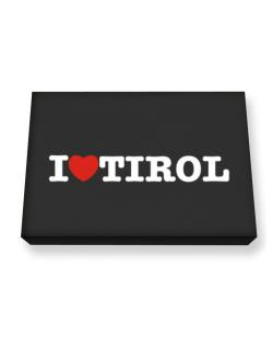 I Love Tirol Canvas square