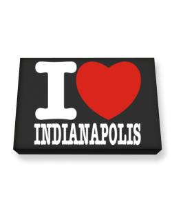 I Love Indianapolis Canvas square