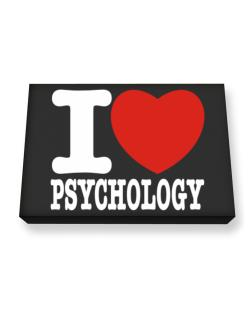 I Love Psychology Canvas square