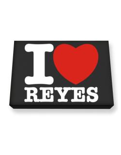 I Love Reyes Canvas square