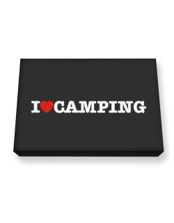 I Love Camping Canvas square