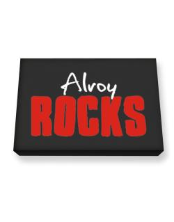 Alroy Rocks Canvas square