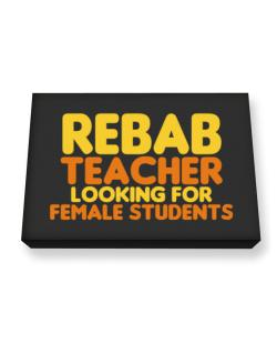 Rebab Teacher Looking For Female Students Canvas square