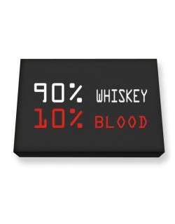 90% Whiskey 10% Blood Canvas square