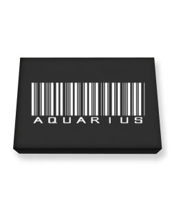 Aquarius Barcode / Bar Code Canvas square