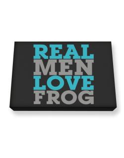 Real Men Love Frog Canvas square