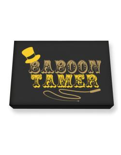 Baboon Tamer Canvas square