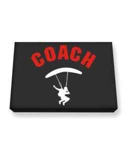 Skydiving Coach Canvas square