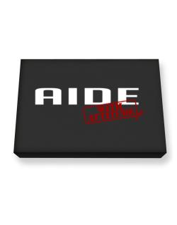 Aide With Attitude Canvas square