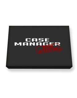 Case Manager With Attitude Canvas square