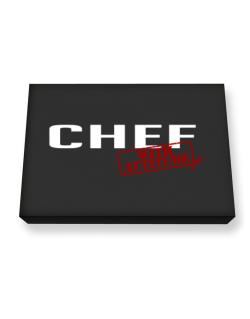 Chef With Attitude Canvas square