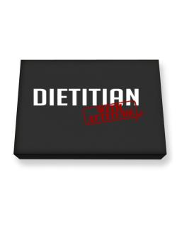 Dietitian With Attitude Canvas square