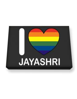I Love Jayashri - Rainbow Heart Canvas square