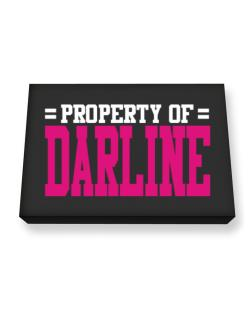 Property Of Darline Canvas square