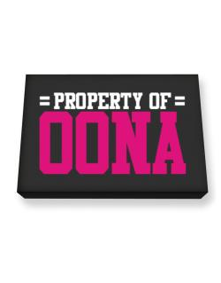 Property Of Oona Canvas square