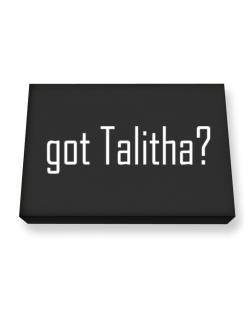 Got Talitha? Canvas square