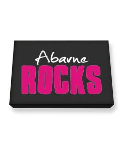 Abarne Rocks Canvas square