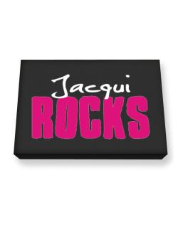Jacqui Rocks Canvas square