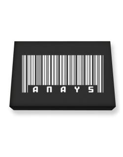 Anays - Barcode Canvas square