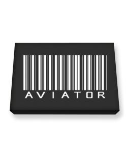 Aviator - Barcode Canvas square