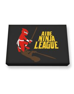 Aide Ninja League Canvas square