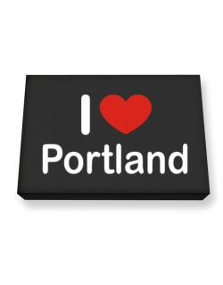 I Love Portland Canvas square