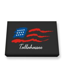 Tallahassee - Us Flag Canvas square