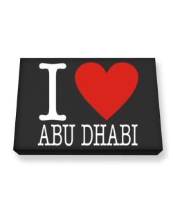 I Love Abu Dhabi Classic Canvas square