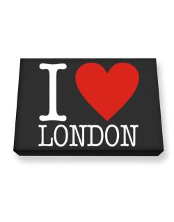 I Love London Classic Canvas square