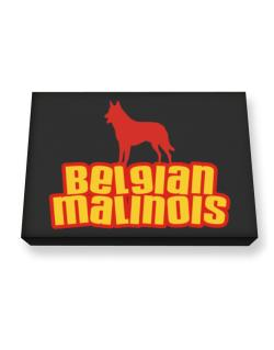 Breed Color Belgian Malinois Canvas square