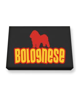 Breed Color Bolognese Canvas square