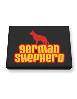 Breed Color German Shepherd Canvas square