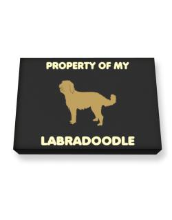 Property Of My Labradoodle Canvas square