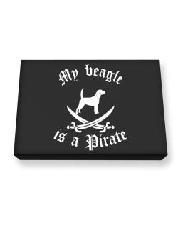 My Beagle Is A Pirate Canvas square