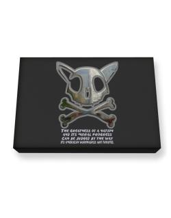 The Greatnes Of A Nation - American Wirehairs Canvas square
