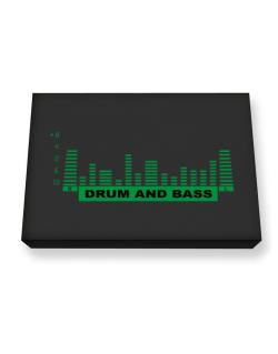 Drum And Bass - Equalizer Canvas square