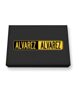 Negative Alvarez Canvas square