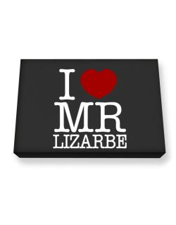 I Love Mr Lizarbe Canvas square