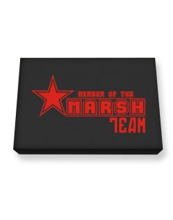 Member Of The Marsh Team Canvas square
