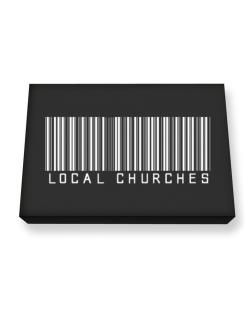 Local Churches - Barcode Canvas square