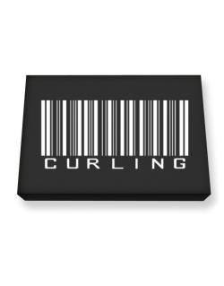 Curling Barcode / Bar Code Canvas square