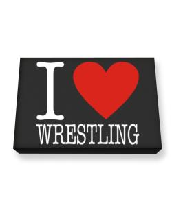 I Love Wrestling Classic Canvas square