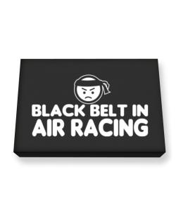 Black Belt In Air Racing Canvas square