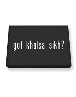 """ Got Khalsa Sikh? "" Canvas square"