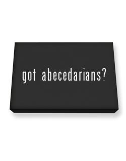 Got Abecedarians? Canvas square